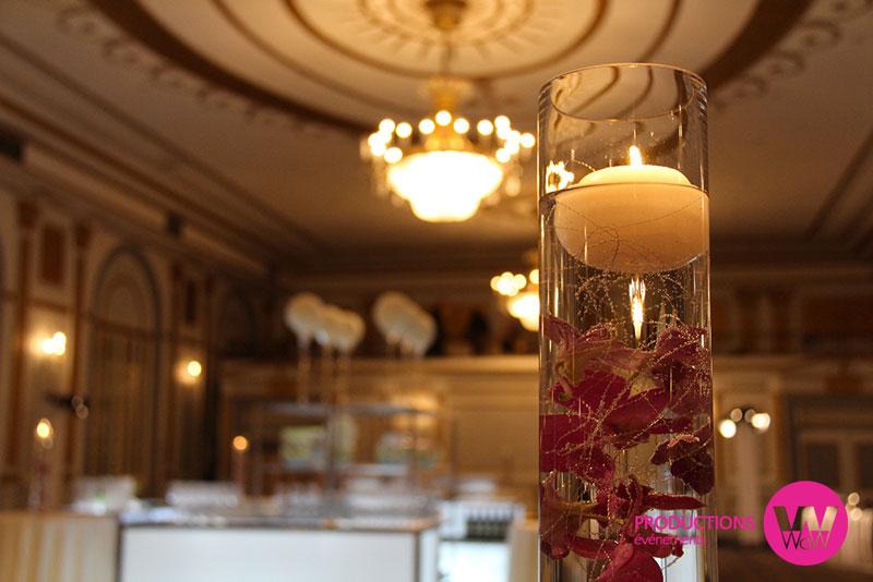 Chandelle,vase