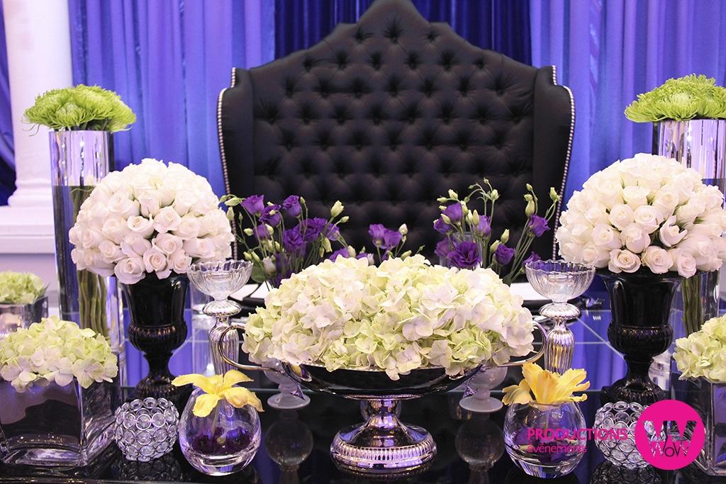 Fleurs, chaise des maries