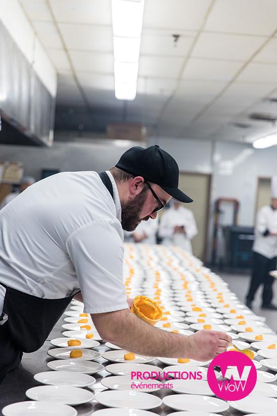 Preparation en cuisine brigade