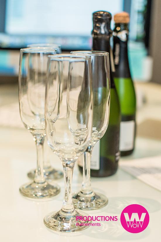 Verres, champagne